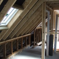 Renovations within the roof area