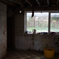 Kitchen after strip out