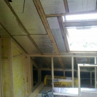 Cupboard walls formed and insulation