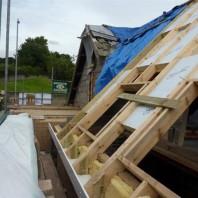 Lounge roof window construction