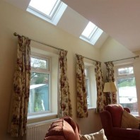 Lounge roof window detail