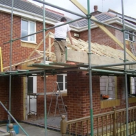 Rear of house (with scaffolding)